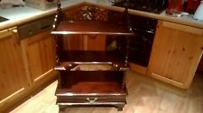 Mahogany 3 Shelf What-Not Display Stand with built in single drawer