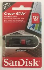 100% Genuine SanDisk Cruzer Glide 128GB USB Memory Stick Flash Drive USB 2.0/3.0