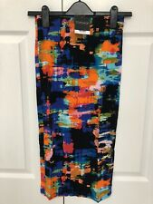BNWT Topshop Tropical Abstract Tube Skirt Size 8