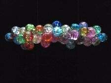 LAMPWORK GLASS FRENCH CLIP HAIR BARRETTE THICK HAIR 100mm Clip LB1