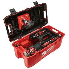 Milwaukee 26 in. Jobsite Portable Work Tool Box Power Tools Storage Lockable Lid