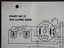 Original 1979 Bombardier Ski-Doo Alpine 640ER Electrical Schematic Chart #12