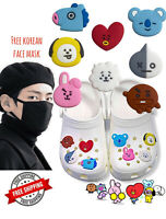 BT21 Crocs Shoe Bracelet Charms  BTS Jibbitz 8 PCS Set Bangtan Boys Free Cover