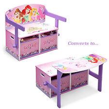 DELTA CHILDREN DISNEY PRINCESS 3IN1 CONVERTIBLE BENCH / DESK / TOY STORAGE BOX