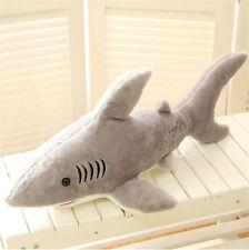 "27.5""Big Plush white shark Jaws Stuffed Animals Toy Doll kid favor Birthday gift"