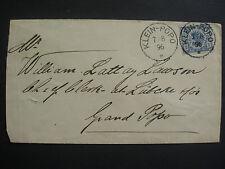 """1890/99, 20 Pfennig Krone&Adler auf Brief mit K1 """"KLEIN-POPO 7.8.96""""n.Grand-Popo"""