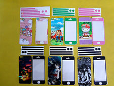 iPhone 5, 5S Skin Vinyl Sticker Kit Back & Front Decal Protect Cover Film (C229)