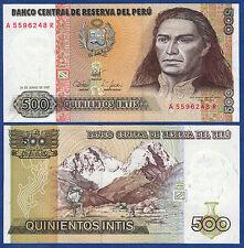 PERU 500 INTIS 1987 UNC P.134B