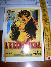 L'EREDITIERA MONTGOMERY CLIFT CARTOLINA POSTCARD CINEMA  NUOVA