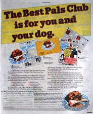 1984 PAL Dogfood 'Best Pals Club' Membership Form Print Advert: Vintage Comic Ad