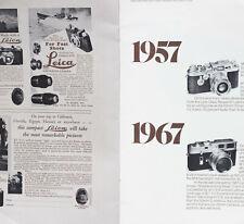 A Brief Leica Chronicle Since 1913 Leitz Brochure / Iiif Iiig M3 M4 Leicaflex M5