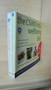 DR MANNY NOAKES, CLIFTON - LOT OF 2 BOOKS: THE CSIRO TOTAL WELLBEING DIET 1 + 2