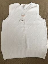 Gymboree Boys Sweater Vest White Argyle Diamonds XS (4) NWT GYMB1