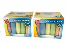 Chalk - Play Day Sidewalk Chalk 40 Pieces (2 packs of 20) - New in Box