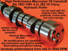 HI PERFORMANCE MERCRUISER ROLLER LIFTER CAMSHAFT V6 4.3L CHEVY 431-9691 1987-92