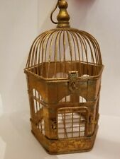 Bird cage gold antiqued decor piece wedding card holder