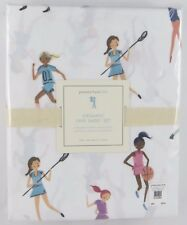 Pottery Barn Kids Faye Sports Twin Sheet Set Girls Soccer Basketball