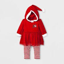Baby Girls' Santa Romper with Hood - 3/6 month