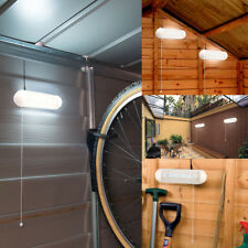 Solar Powered LED Shed Light Wall Indoor Pull Lamp Corridor Garden Yard Garage