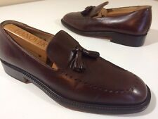 z ALFANI Italy Men's BROWN Leather BROGUE Casual DRESS Shoe TASSEL Loafers 9 M