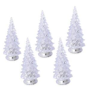 Christmas Decor Set of 5 Color Changing LED Light Christmas Trees Design