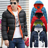 Men's Slim Casual Warm Jacket Hooded Winter Thick Coat Men Parka Overcoat Hoodie