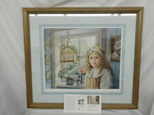 PATI BANNISTER SONGBIRD PRINT FRAMED SIGNED NUMBERED 395/485 COA 1990