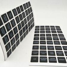 Popular 45pc Rocker Switch Label Decal Circuit Fuse Panel Sticker Marine Boat