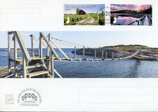 Finland 2018 FDC Bridges Europa Bridge 2v S/A Cover Architecture Tourism Stamps