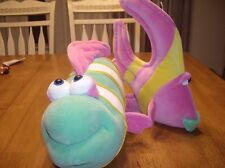 EUC 2 Large Funny Friends Plush Fish Super Soft Groupie Angelfish Jennifer Mazur