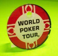 WORLD POKER TOUR Pinball Machine Plastic Game Logo Keychain Original NOS Stern