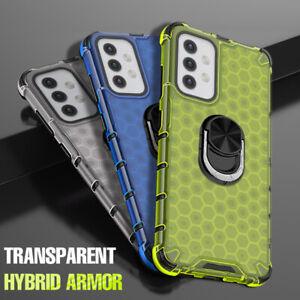 Hülle für Samsung Galaxy S21 S20 A52 A72 A32 Handy Hard Schutz Case mit Ständer