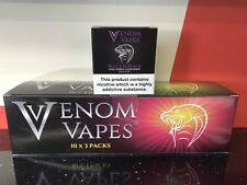 VENOM VAPES #4 BLACK & BLACK. LIQUORICE & BLACKCURRANT 3mg Nic, 30x 10ml Bottle