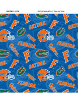 NCAA Florida Cotton Fabric-Florida Gators Cotton Quilting Fabric-FL1178