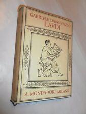 LAUDI - DEL CIELO DEL MARE DELLA TERRA E DEGLI EROI - GABRIELE D'ANNUNZIO - 1940