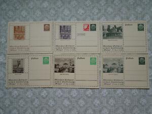 Dt. Reich 1935, Müpa, Postkarten, Postwertzeichen Ausstellung, ungebraucht