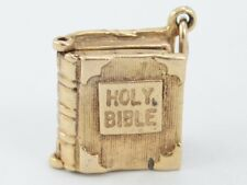 Holy Bible Vintage 9ct Gold Opening Charm Ideal Gift 375 Lord Prayer R33