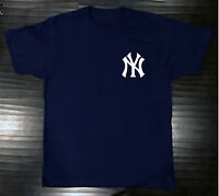 New York Yankees T-Shirt Graphic NY Cotton Men Adult Logo Jersey Pocket Chest