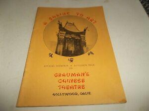 Vtg 1946 Hollywood Grauman's Chinese Theatre Souvenir Autograph Book