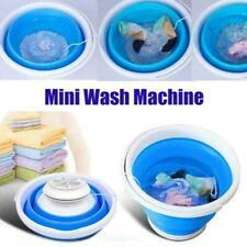 Automatic Folding Laundry Tub Basin Mini Washing Machine Clothes Bucket Magic