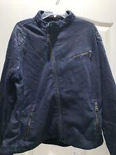 Polo Ralph Lauren Black Label Moto Navy Blue Jacket 2XL XXL XXLARGE SLim FIt
