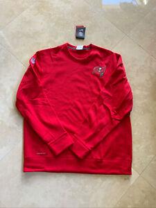 Tampa Bay Buccaneers NFL Sideline Therma-Fit Nike Fleece Top XL-Long Sleeve Red