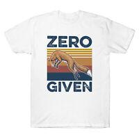 Fox Zero Given Graphic Funny Vintage Men's Short Sleeve T Shirt Retro Cotton Tee