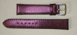 20mm Purple-Metallic-Colour-Calf-Grain-Leather Ladies Watch Strap