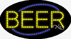 """BRAND NEW """"BEER"""" 27x15 OVAL SOLID/ANIMATED LED SIGN w/CUSTOM OPTIONS 24152"""