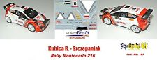 DECAL 1/43 - FORD  FIESTA WRC 2015  - Kubica - Rally Montecarlo 2016 - DECAL