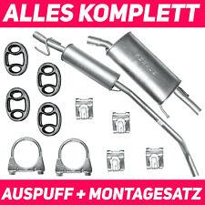 Schalldämpferset Auspuffanlage Auspuff Opel Corsa B 93-00 1.2 Fließheck