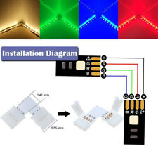 10Pcs/lot L-shape 4 Pin RGB 5050 LED Strip Light Connector 10MM Light Connector
