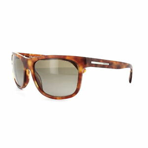 Prada Sunglasses PR15RS TOW1X1 60MM Matt Brushed Light Havana Brown Gradient
