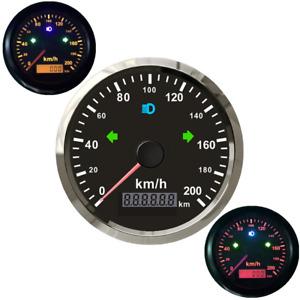 85mm ATV Motorcycle GPS Speed Meter 200Km/h Odo Mileage Turn Indicator Analog 1x